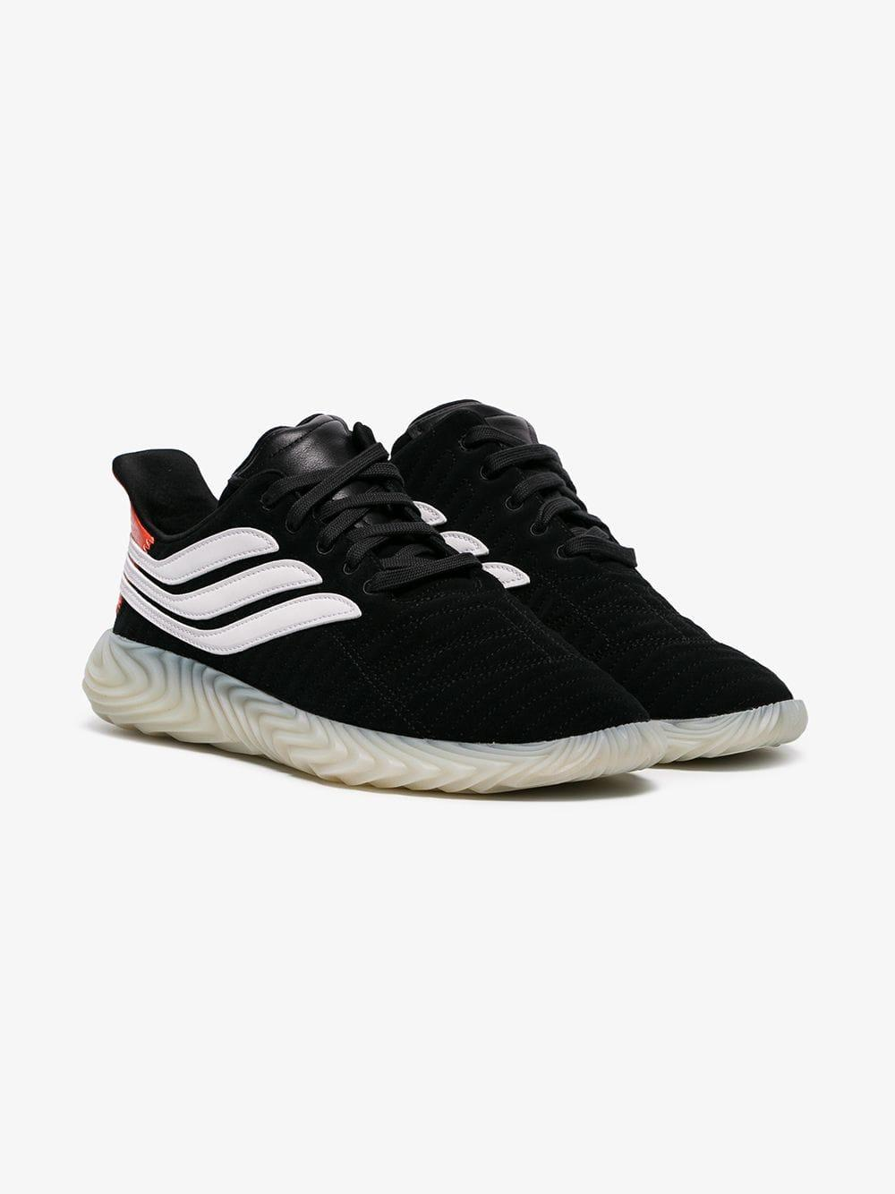 the best attitude 6a5b3 08b85 adidas Black And White Sobakov Suede Leather Sneakers in Black for Men -  Lyst