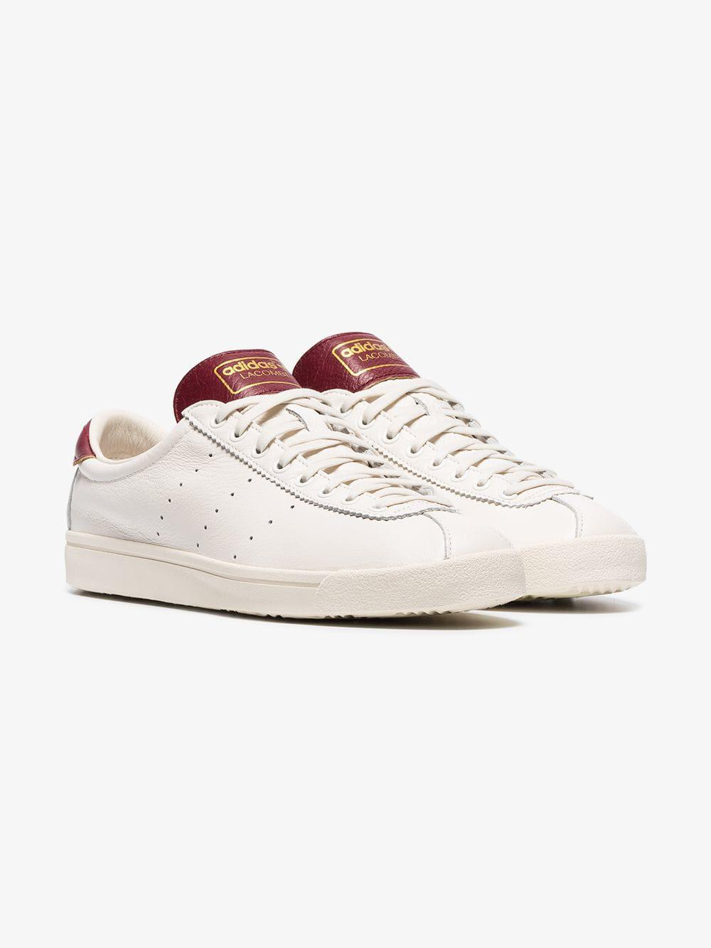 timeless design 75fe1 56ec1 Adidas - White And Burgundy Lacombe Sneakers for Men - Lyst. View fullscreen