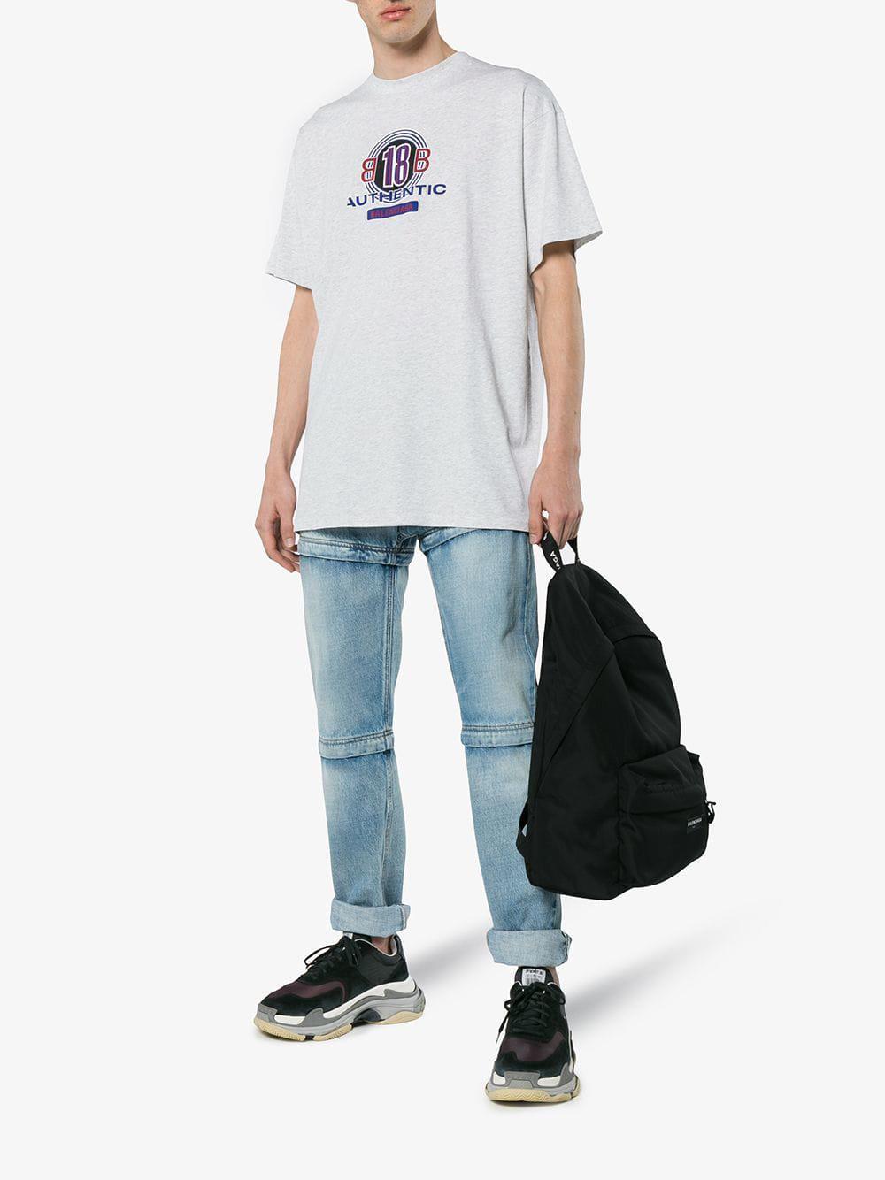0cbb3ec819ea Balenciaga Black And Grey Triple S Sneaker in Black for Men - Save 25% -  Lyst