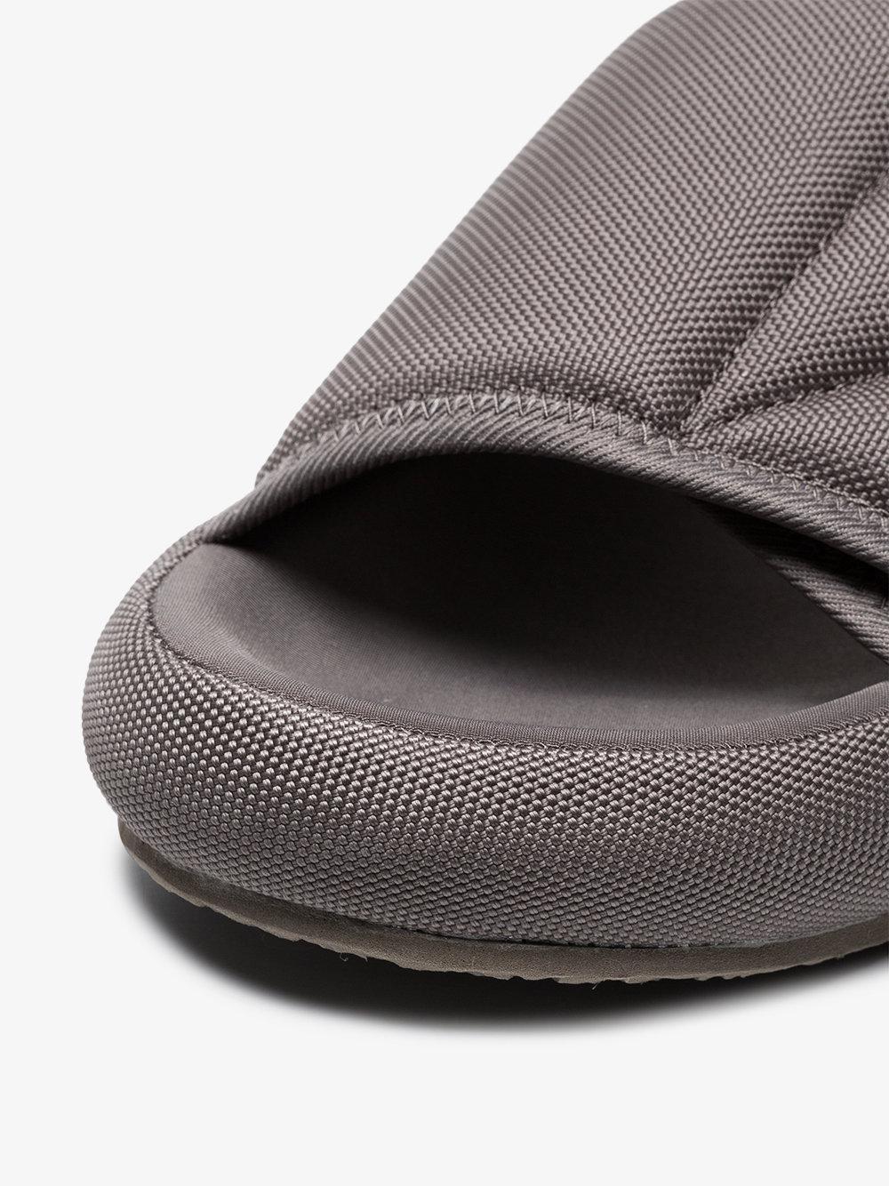 8d7a5da23a6 Lyst - Yeezy Grey Flatform Slippers in Gray