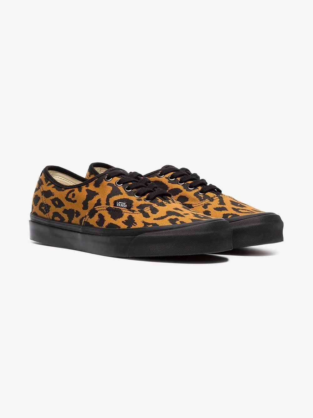 338f65b683 Vans Leopard Print Vault Ua Og Trainers in Brown for Men - Lyst
