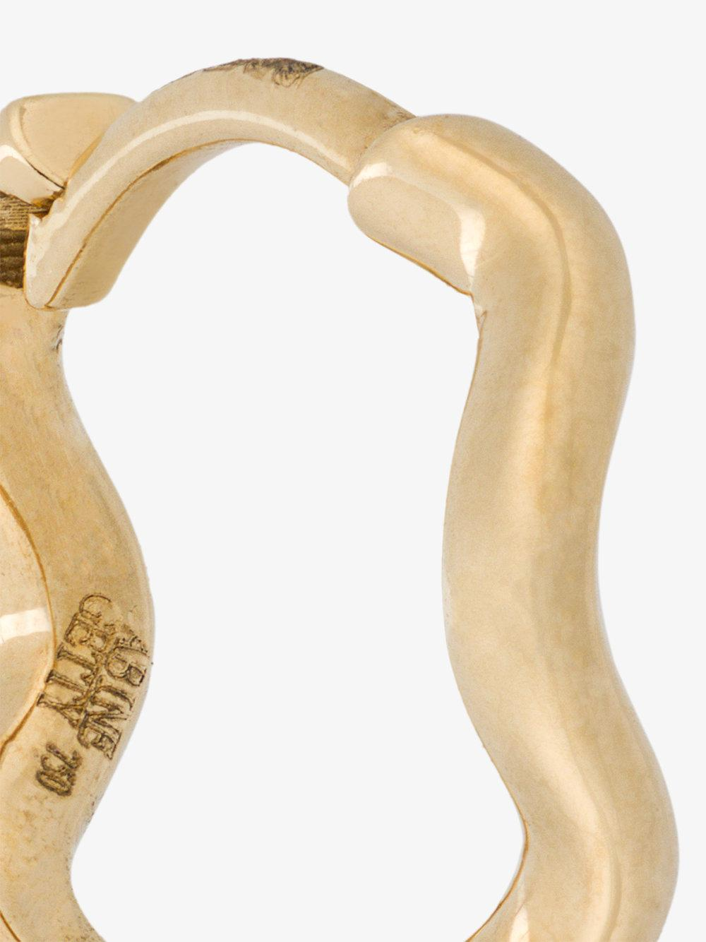 Sabine Getty yellow gold Wave Huggie Hoops - Metallic SHry4p