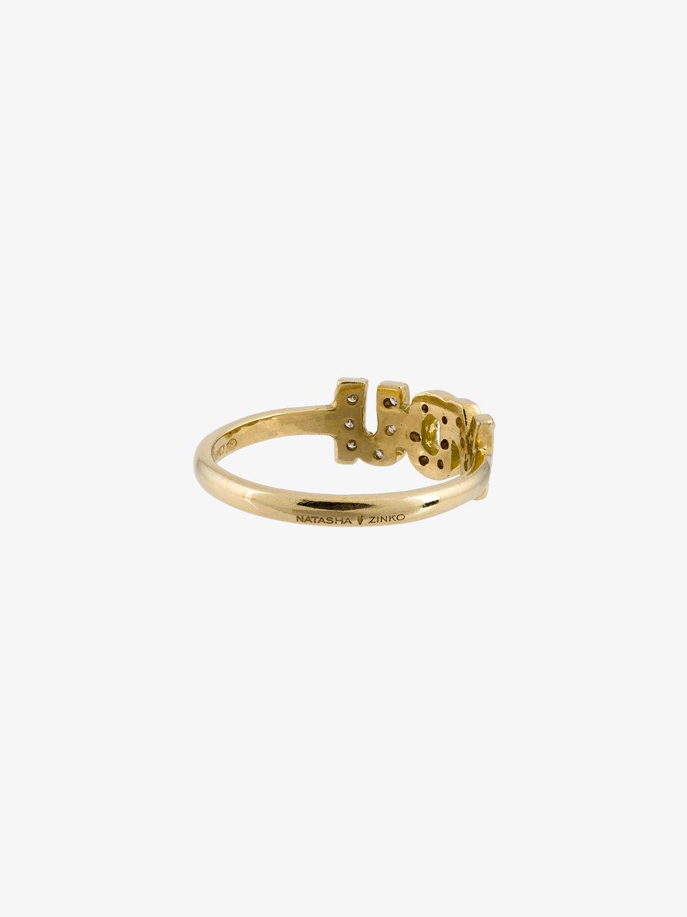 Natasha Zinko mini anchor ring - Metallic YebCjyG
