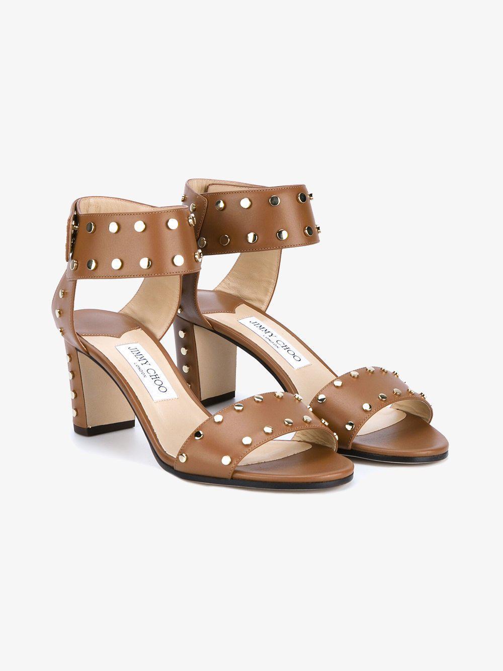 2014 unisex cheap online cheap price wholesale Jimmy Choo Veto Leather Studded Sandals rM5QEIGp