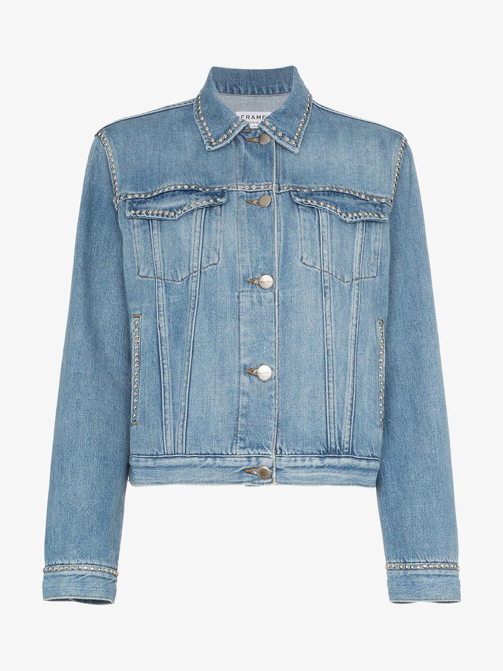 Discount Websites blue long sleeve denim jacket Frame Denim Cheap Huge Surprise Best Store To Get Online Cheap Sale Low Shipping ENoHAcK