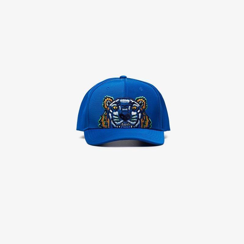 d4b9d1a9 KENZO Blue Tiger Logo Cap in Blue for Men - Lyst