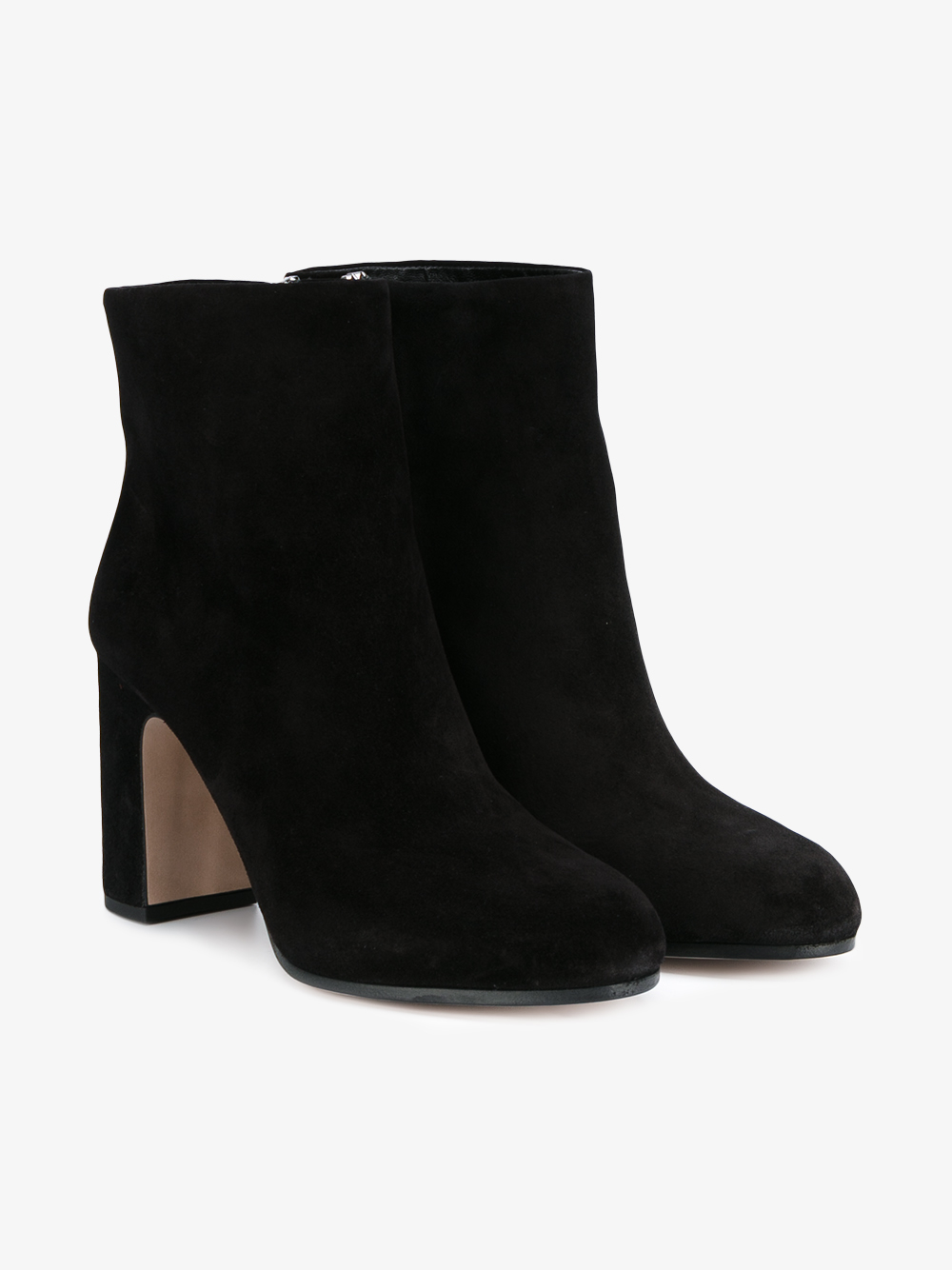 miu miu suede ankle boots in multicolor black lyst