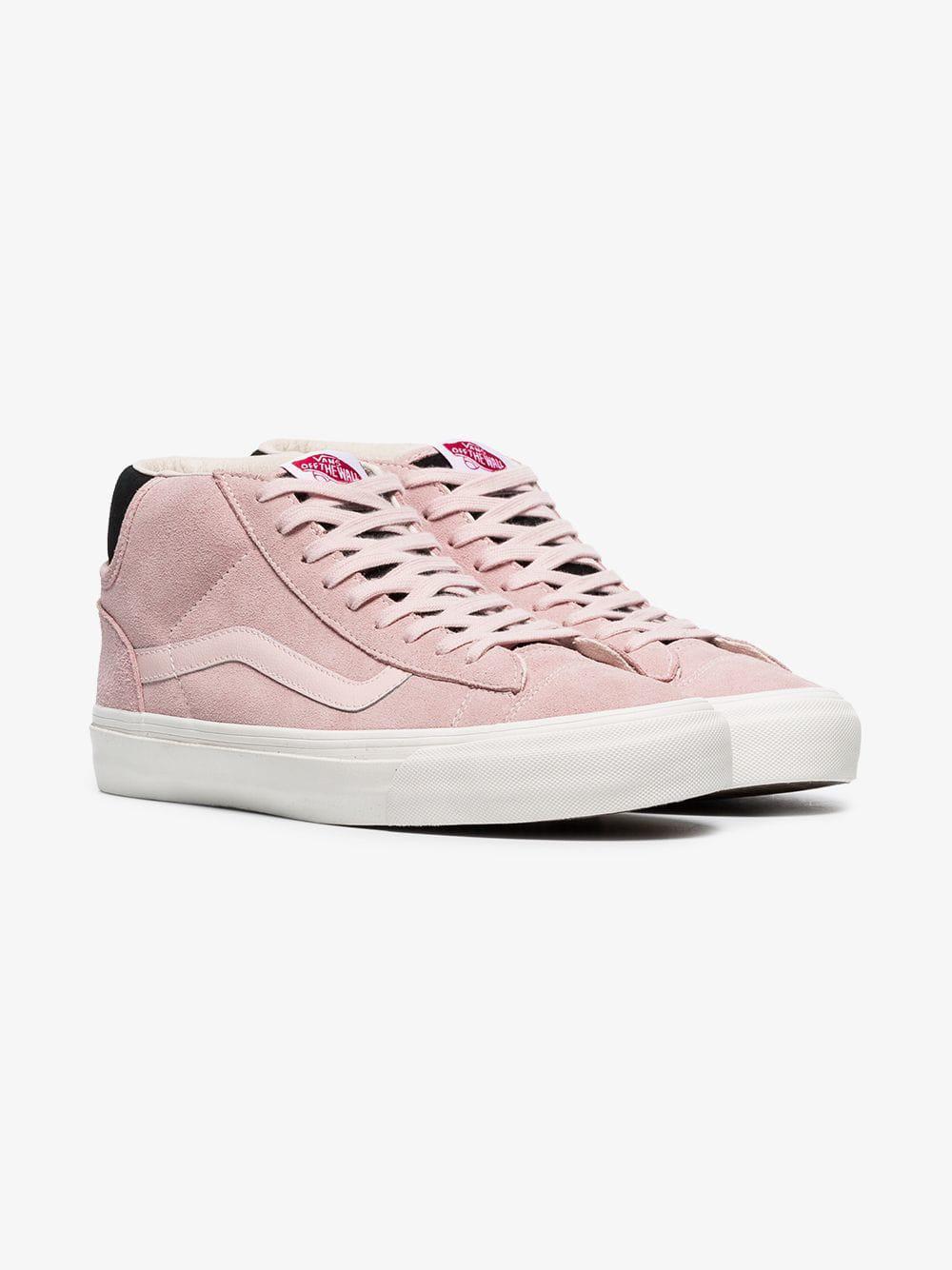 4bd6a66ca6 Vans Pink Vault Suede Skater Sneakers for Men - Lyst