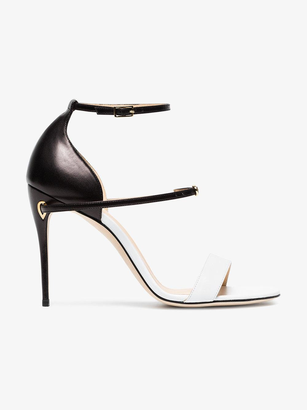 black and white Rolando 105 leather sandals - Unavailable Jennifer Chamandi um8TgXuU2v