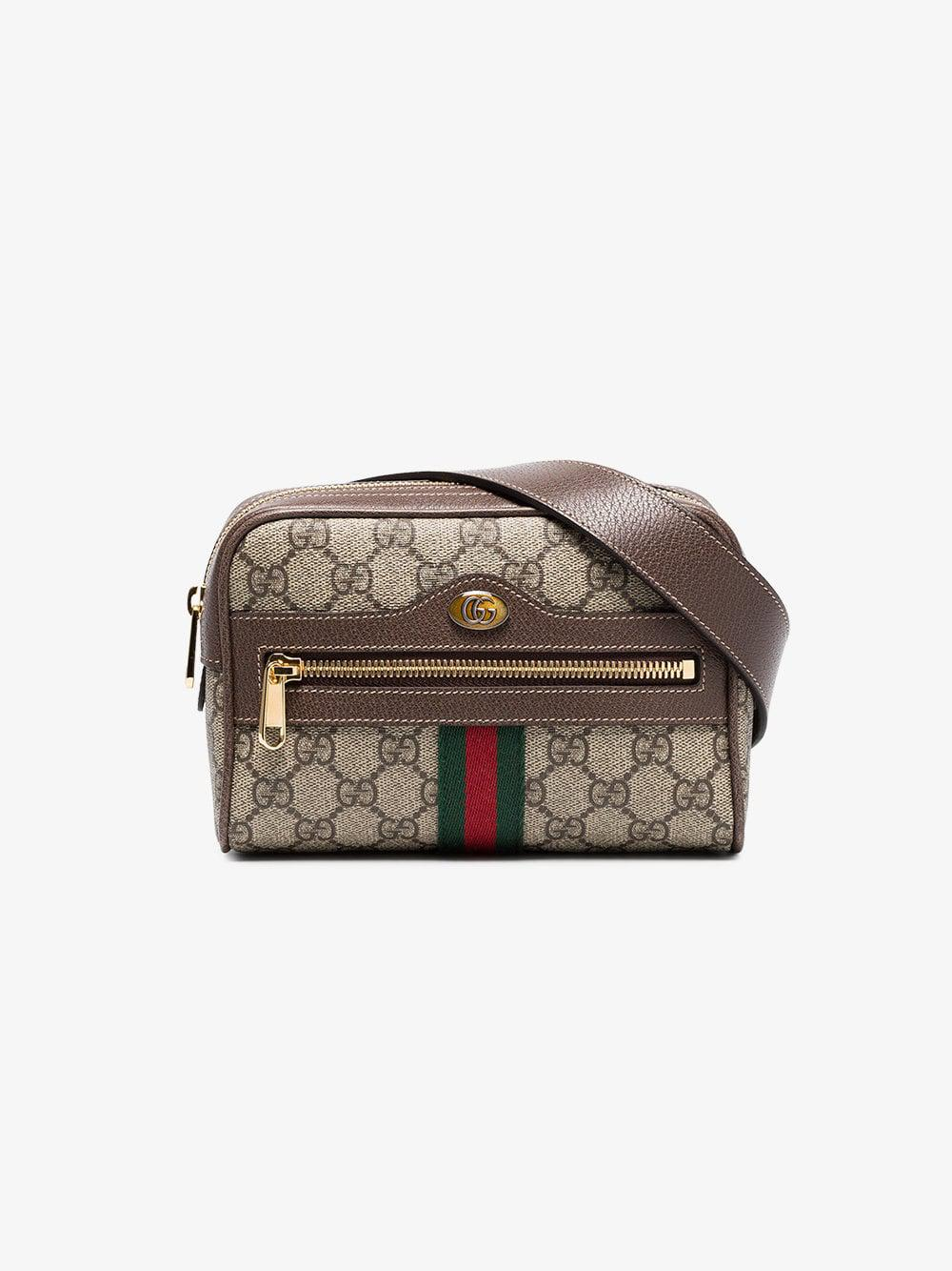 92972e96331 Lyst - Gucci Brown Ophidia GG Supreme Small Belt Bag in Brown - Save 15%