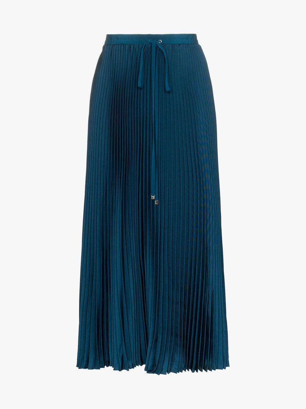 bb7903f284 Tibi Drawstring Pleated Midi Skirt in Blue - Lyst