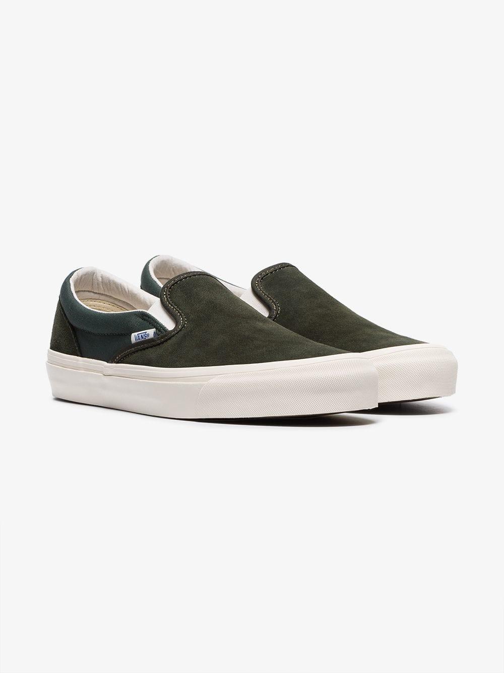 9dc63643bd Vans - Green Vault Og Slip On Suede Sneakers for Men - Lyst. View fullscreen