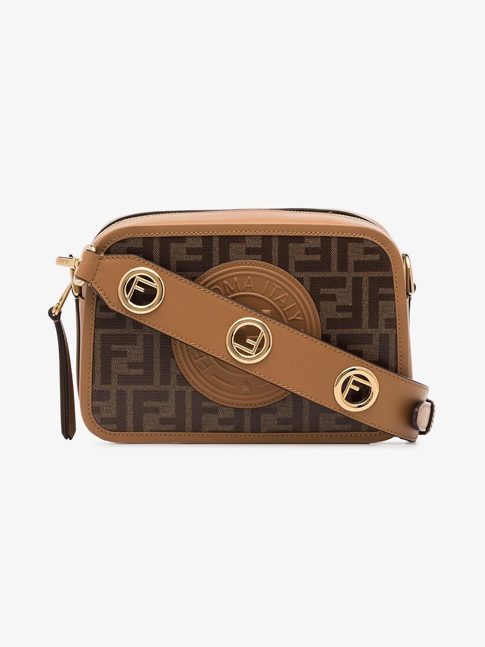 be7ce063b045 Fendi Camera Case Shoulder Bag in Brown - Lyst