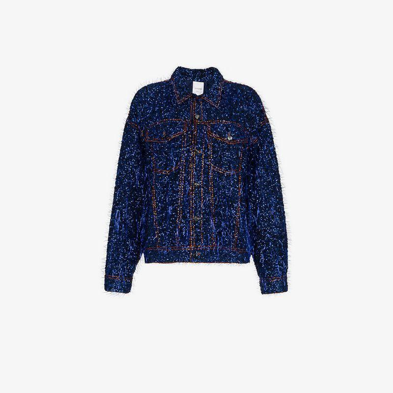 Ashish Ashish Jacket Tinsel Tinsel Embellished Jacket Denim Embellished Denim EnSqpp