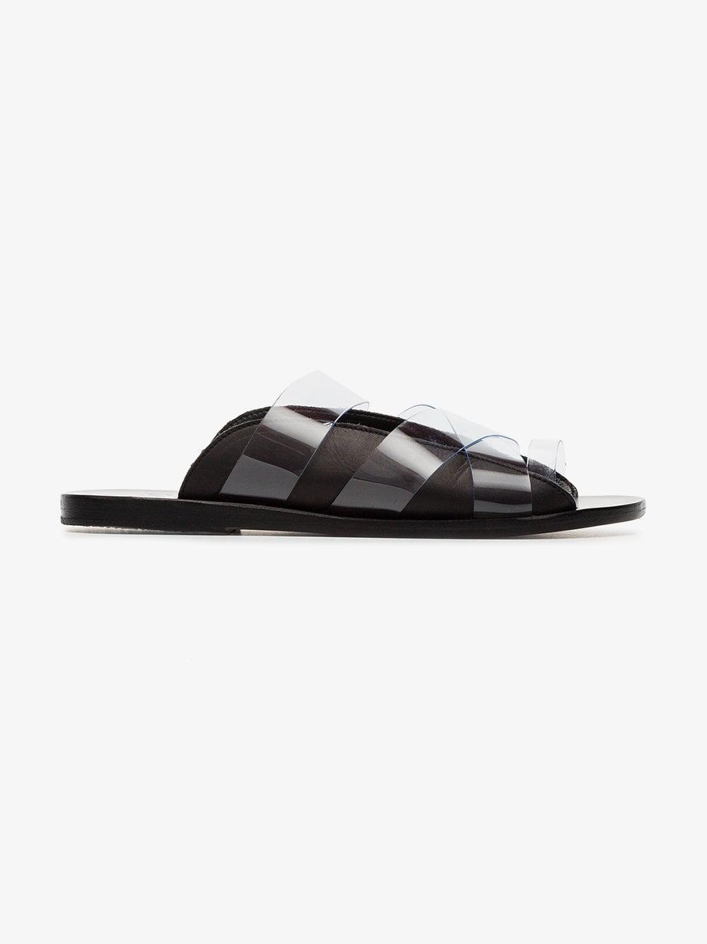 f0f79e06c8ffe Ancient Greek Sandals Black Thraki Pvc And Leather Sandals in Black - Lyst