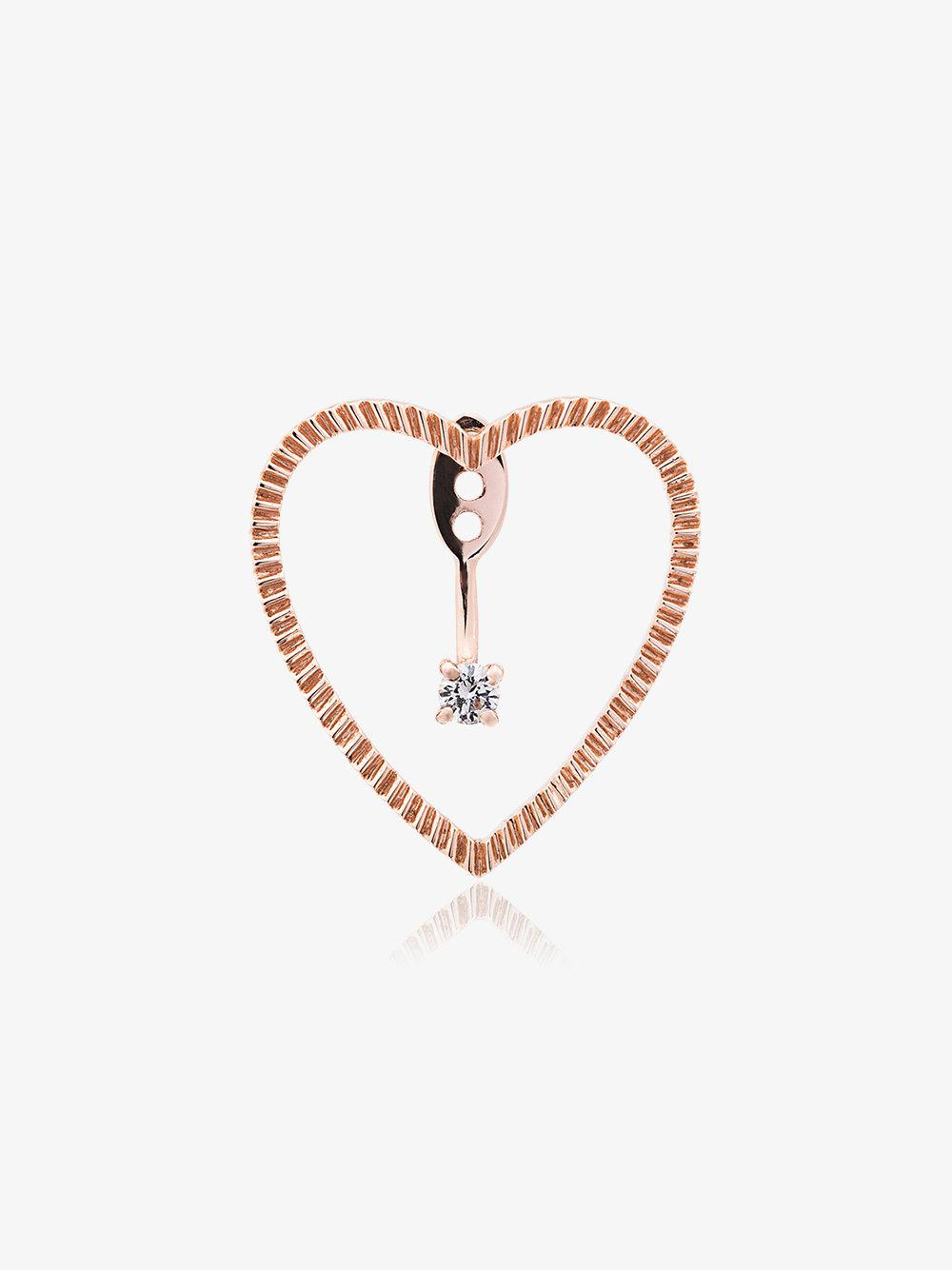 Yvonne Léon 18k white gold Creoles chain diamond earring - Metallic fplg1IhIka