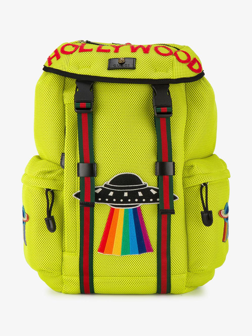 Gucci Ufo Backpack in Yellow for Men - Lyst ec3d0f99a7