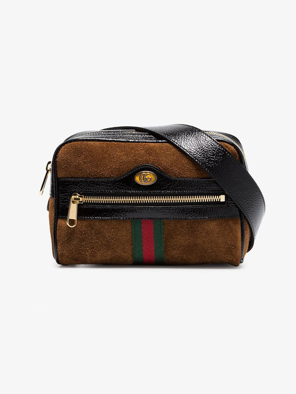 422360eab908 Gucci Small Suede Ophidia Belt Bag in Brown - Save 7% - Lyst