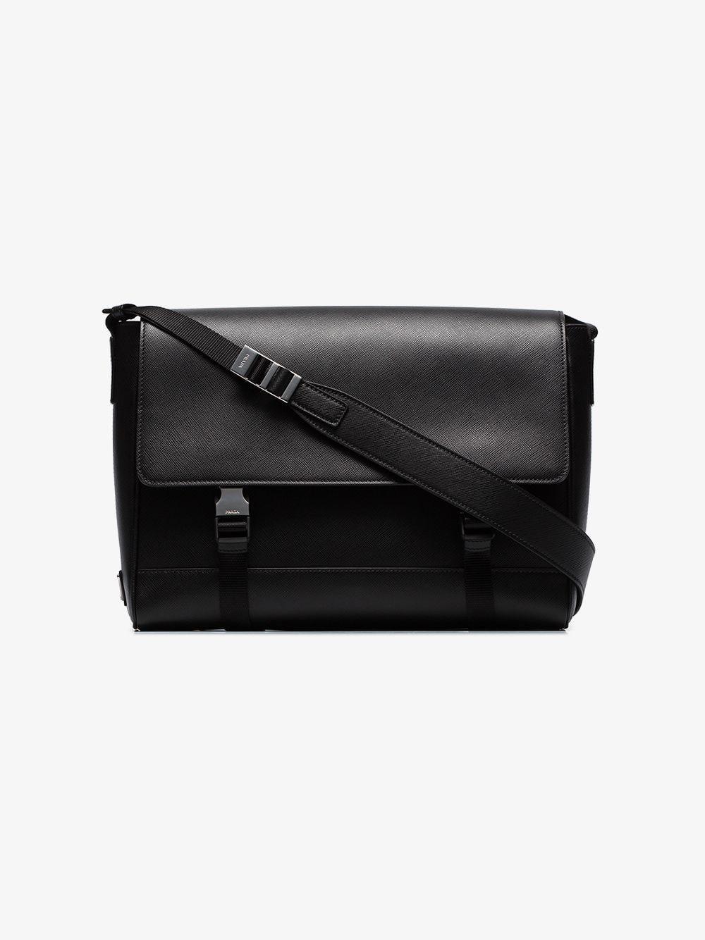 38f2b09829 Lyst - Prada Saffiano Leather Shoulder Bag in Black for Men