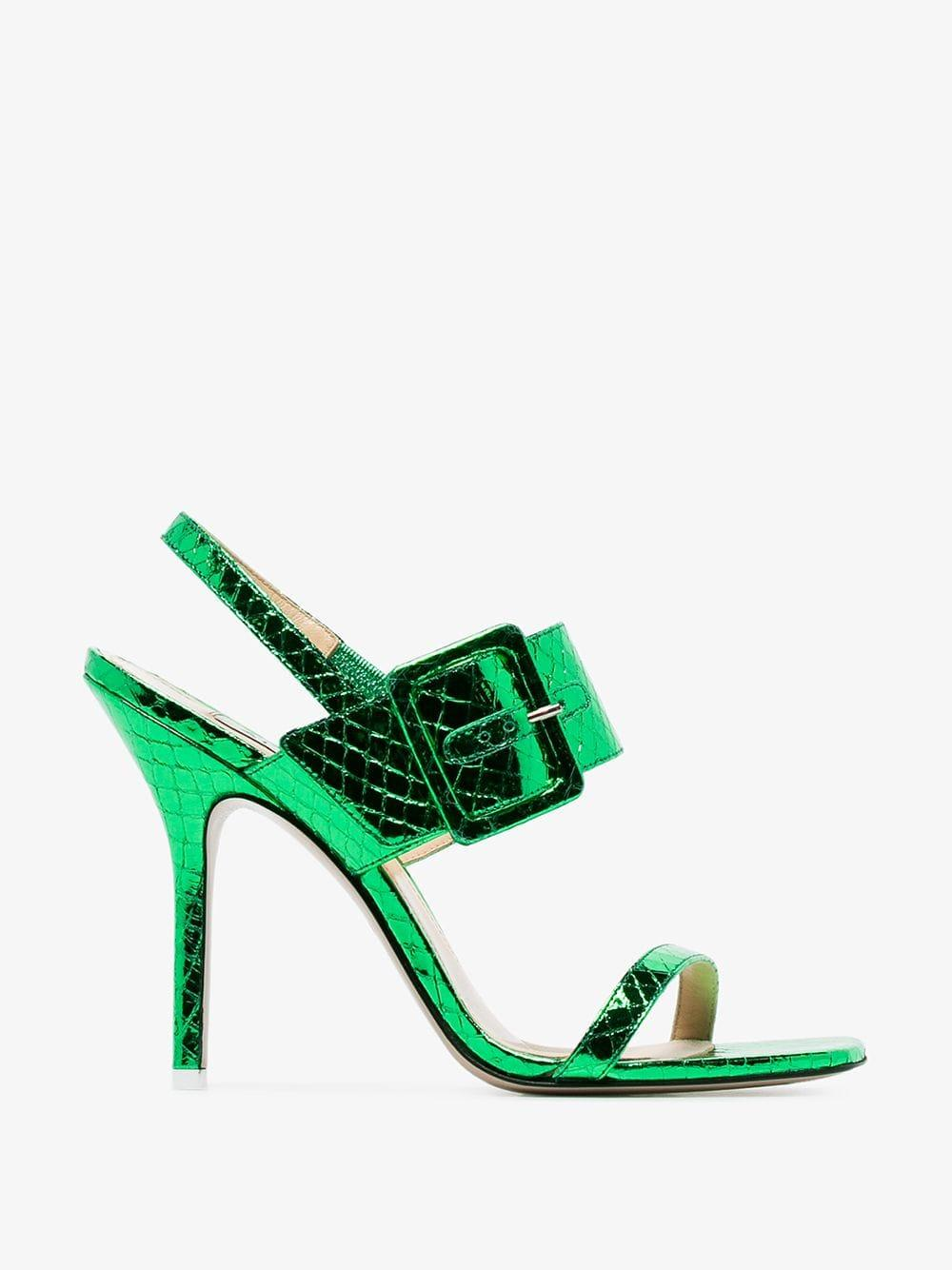 4308a7c664 Attico - Green Mariah Python Napa Heel - Lyst. View fullscreen