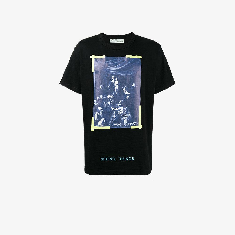 f9c66583 Off-White c/o Virgil Abloh Caravaggio Diagonal T-shirt in Black for ...