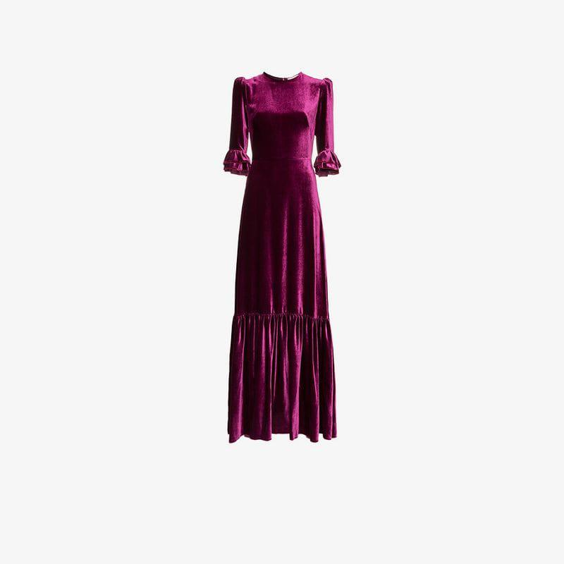 0bf7525402b Lyst - The Vampire s Wife Velvet Festival Dress in Pink