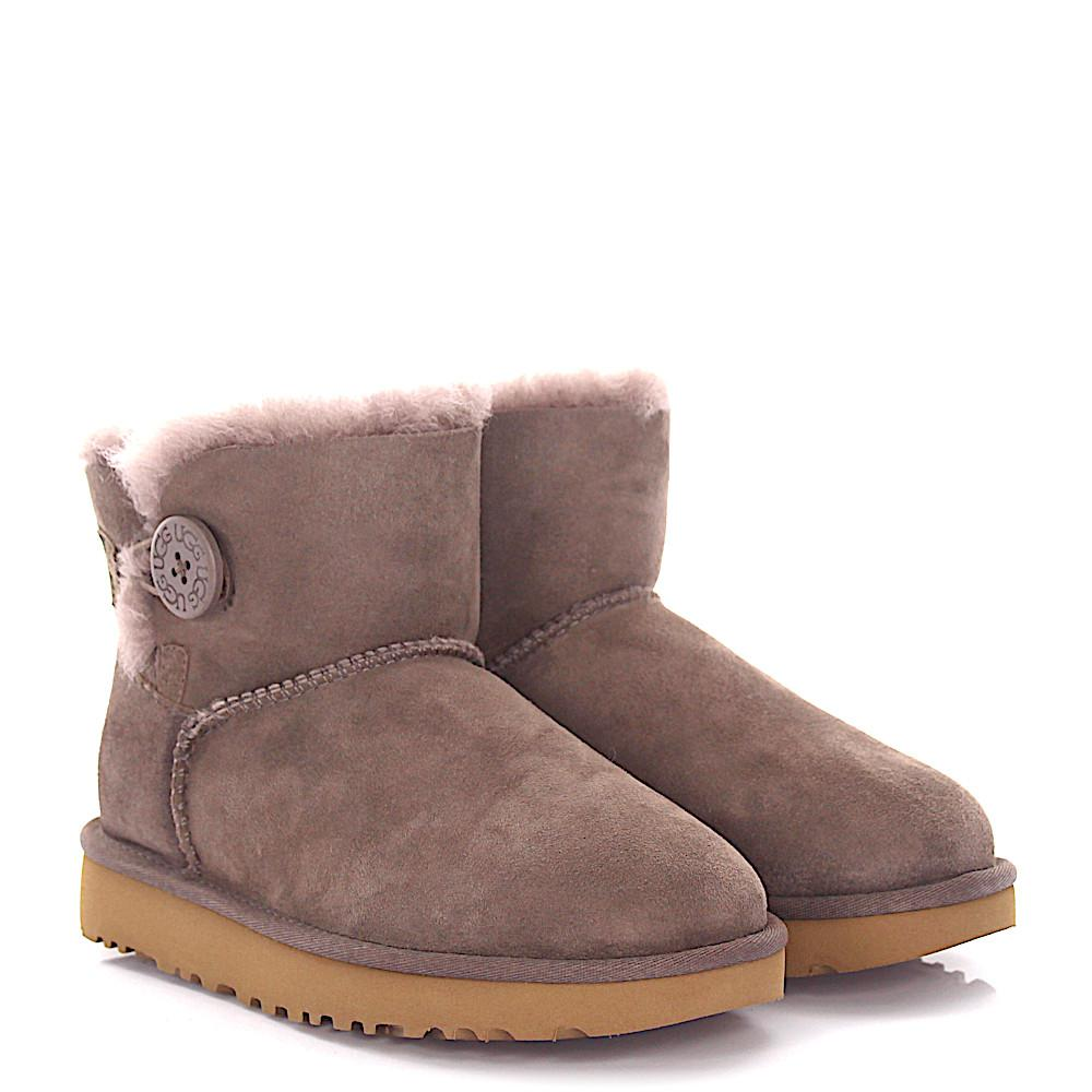 UGG Ankle Boots MINI BAILEY BOW 2 suede lamb fur FsEqnt8mw