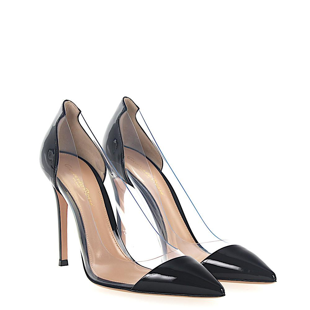 3d892f721f9 Gianvito Rossi. Women s Court Shoes Plexi Pvc Transparent Patent Leather  Black