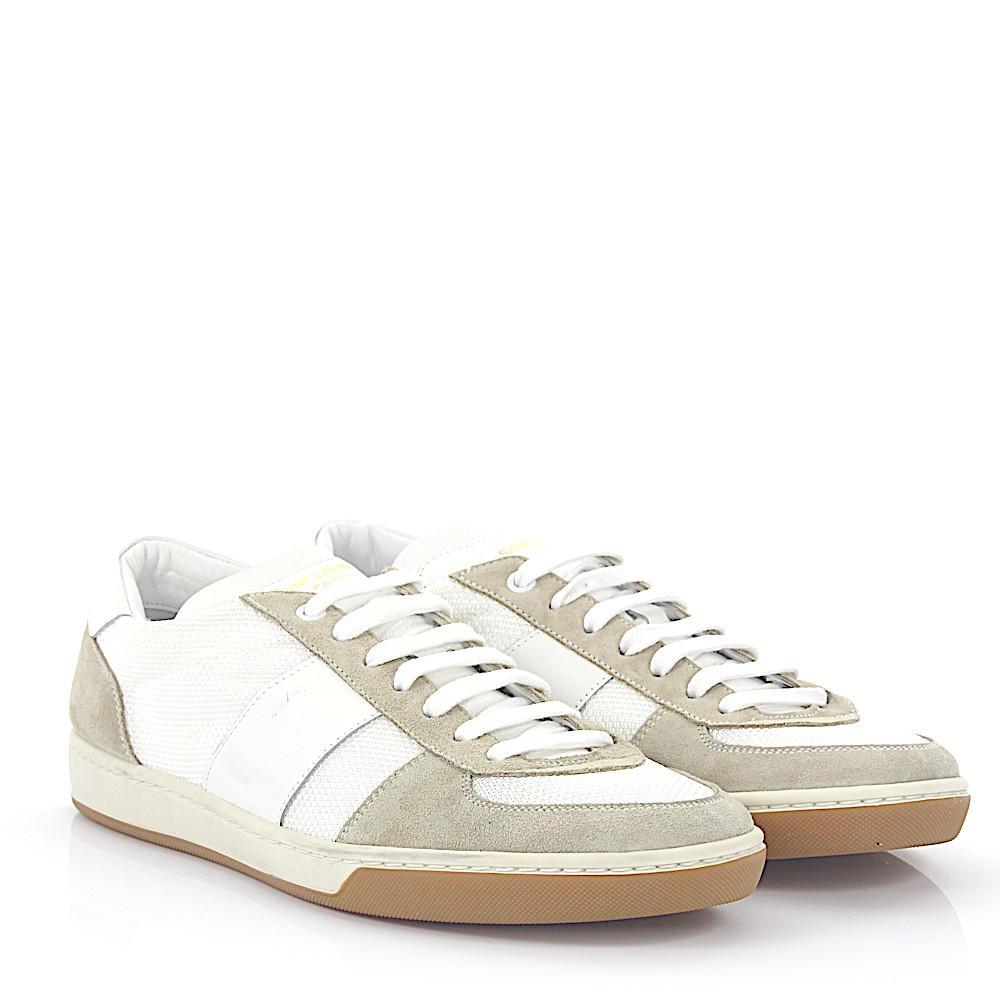 Saint LaurentSneaker SL/41 Low suede grey leather hightech-jersey b5RCzF4ssJ