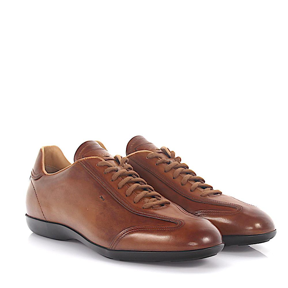 Sneaker AMG 13831 leather brown finished Santoni
