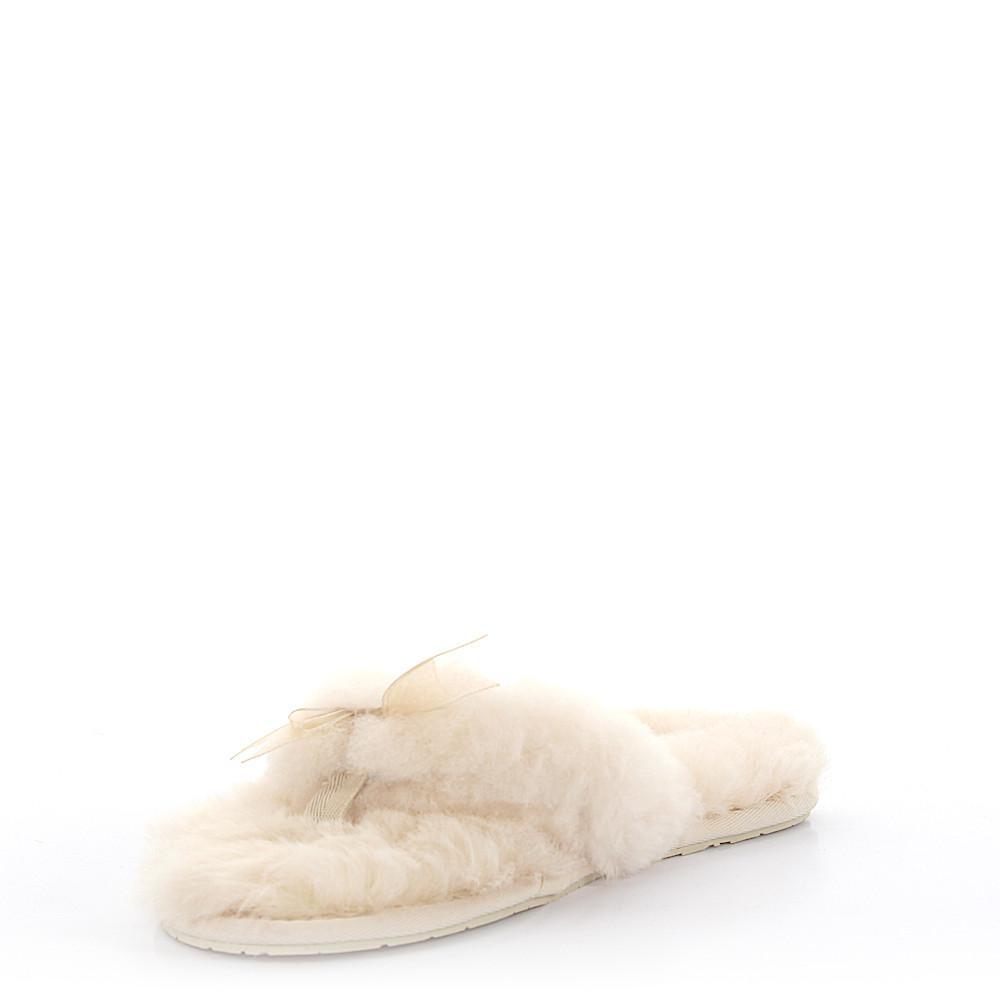 ugg hausschuhe flip flop fluff flip lammfell beige in natural lyst. Black Bedroom Furniture Sets. Home Design Ideas