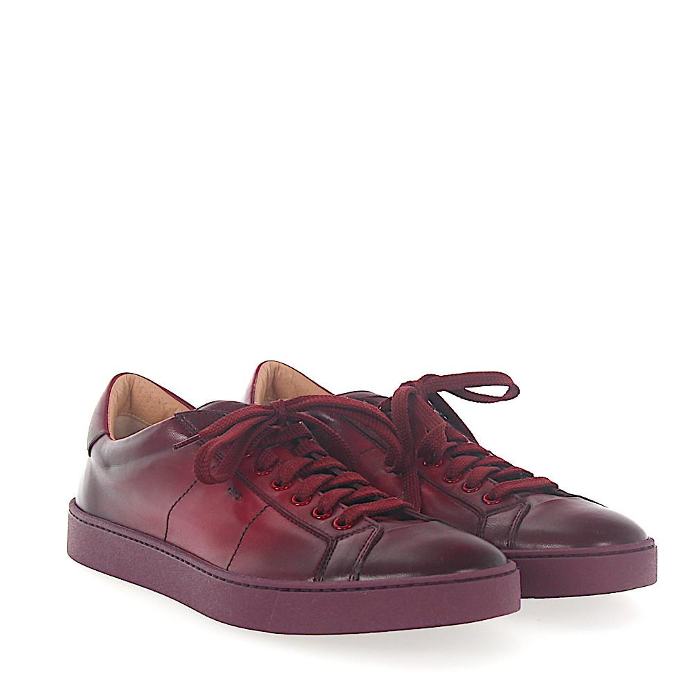 Sneaker 20374 smooth leather Finished bordeaux Santoni v2k98