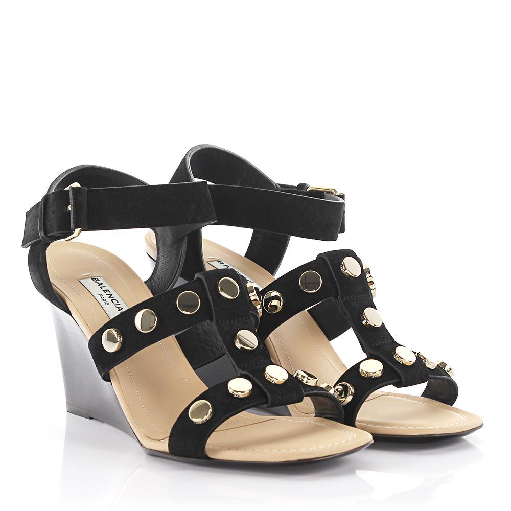Balenciaga Sandals Amp Wedge leather studs tmNye26F