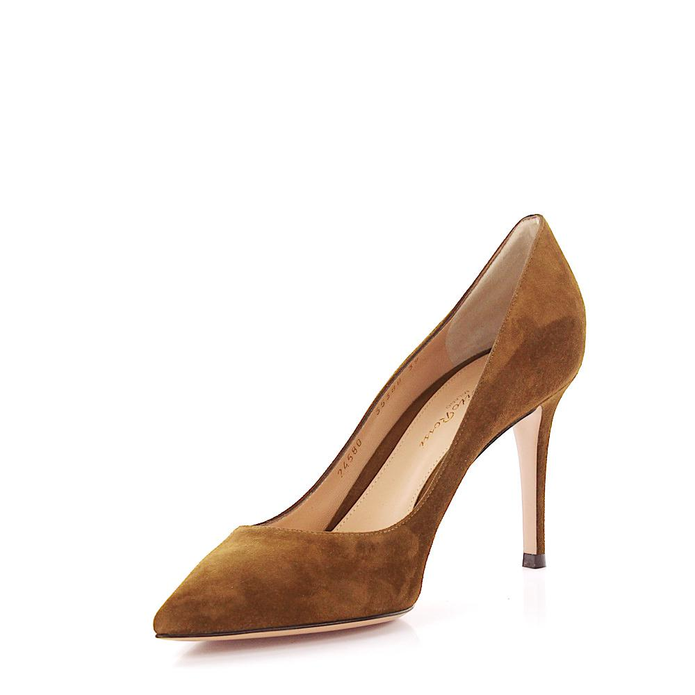 Pumps calfskin suede brown Gianvito Rossi