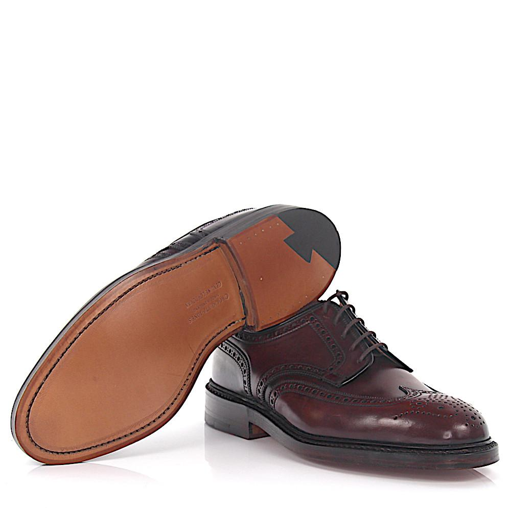 Derby Budapester PEMBROKE leather cordovan black goodyear welted Crockett & Jones G06CzG