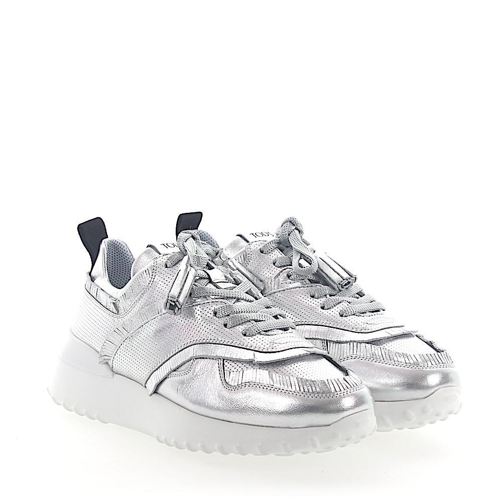 Tod's Sneakers A0W600 calfskin Fringe Hole pattern Metallic BPqzjpfJs8