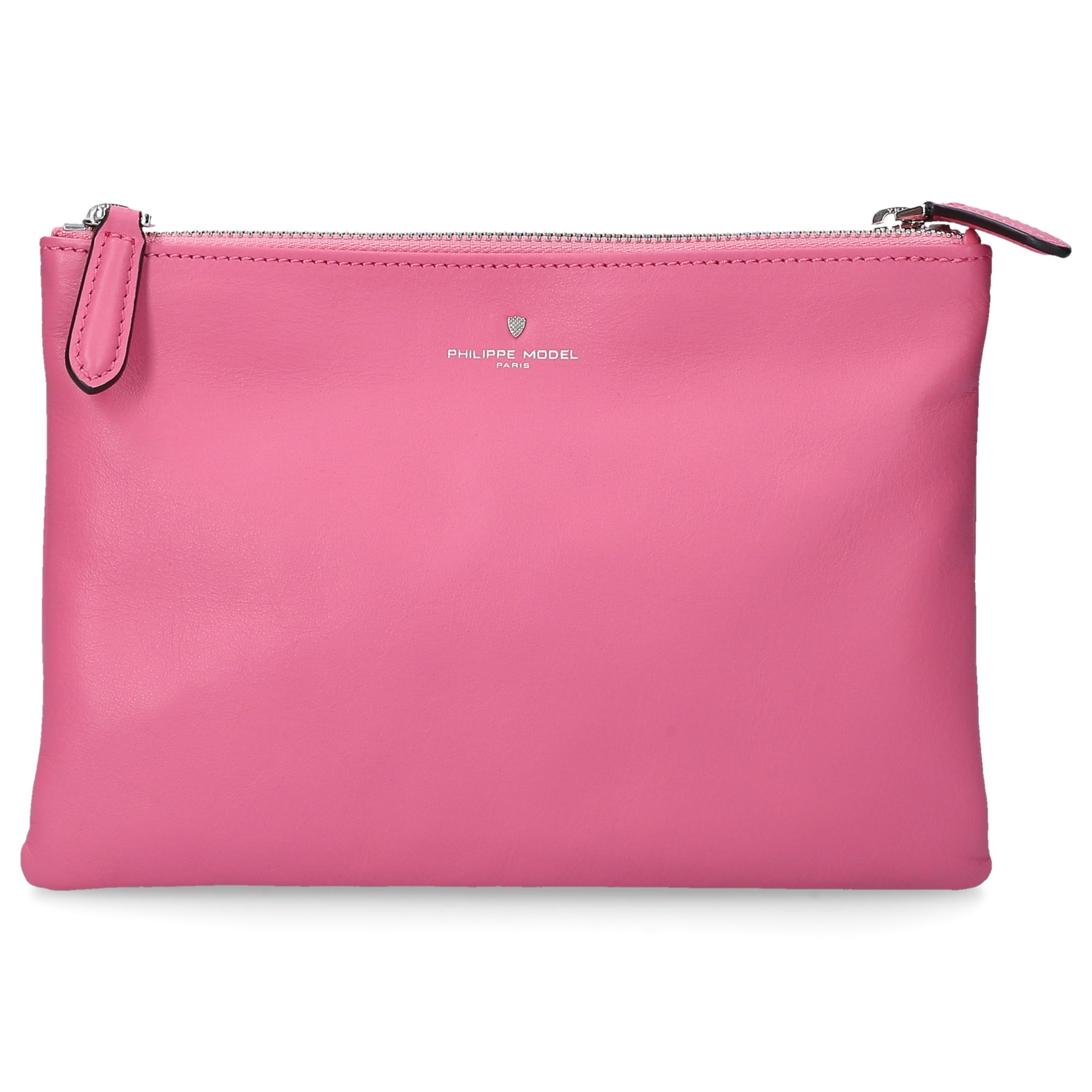 833d0c81e3fbf Philippe Model Handbag Cholet Leather Logo Pink in Pink - Lyst