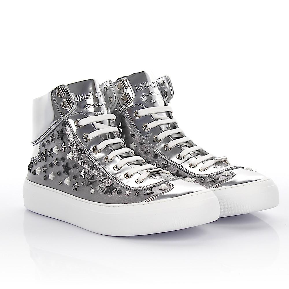 Jimmy chooSneakers HIGH ARGYLE metalic nappa leather with star embellishment C3bor9Y