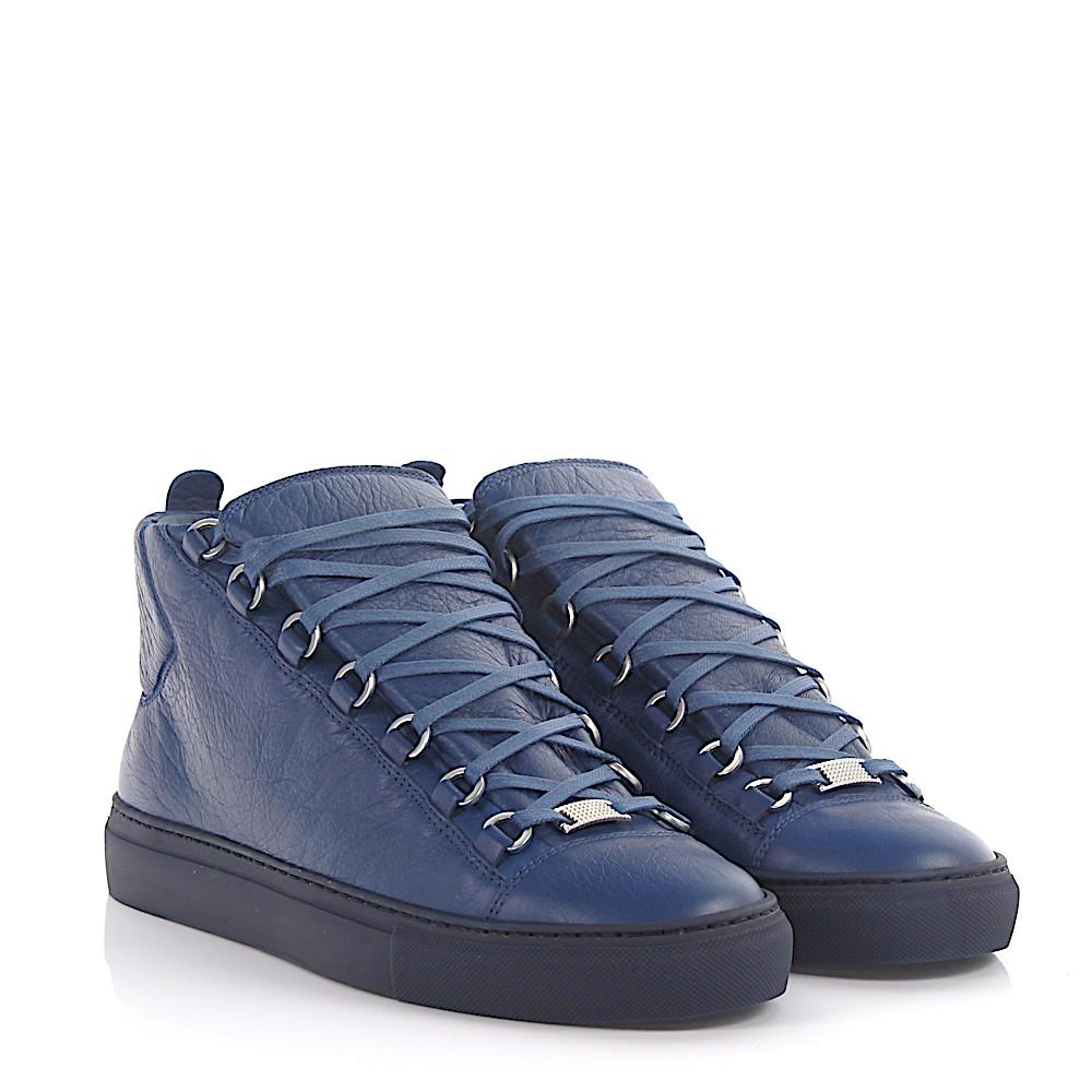 BalenciagaSneakers Arena high leather crinkled