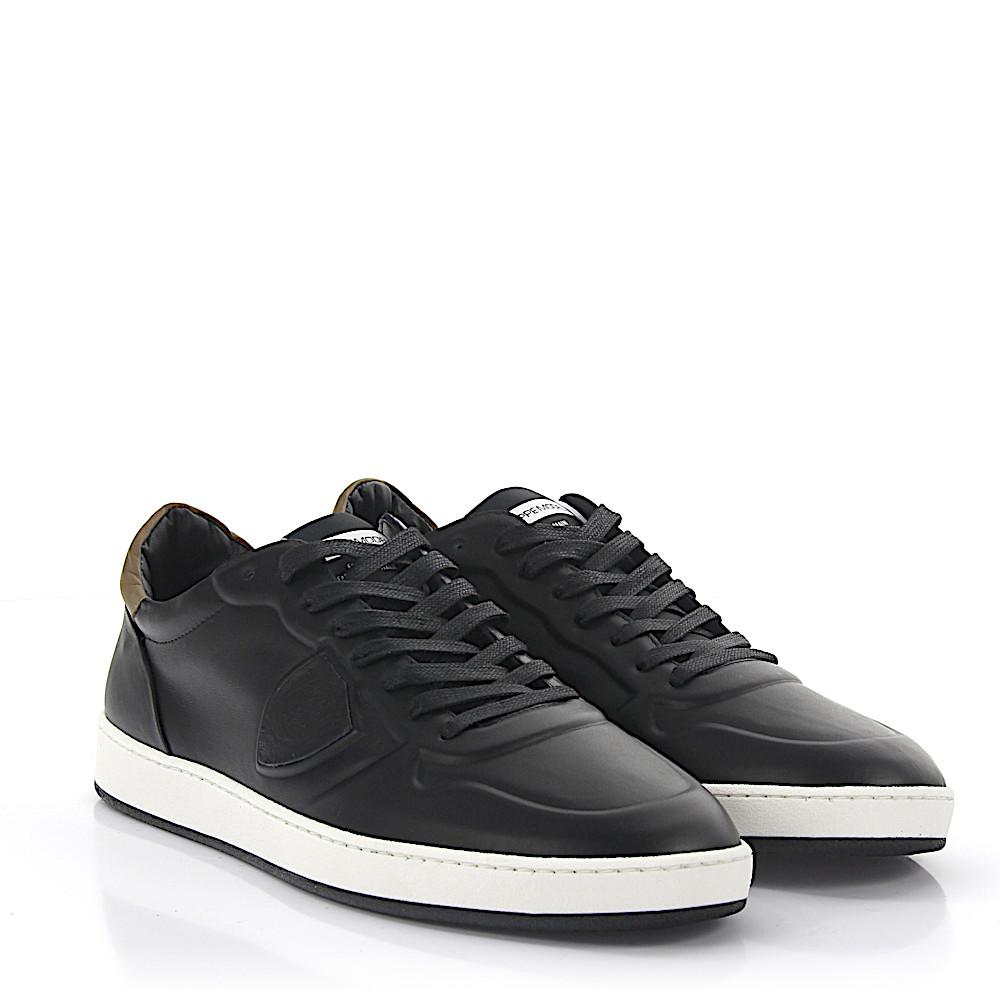 Sneakers Low Gare leather black Philippe Model El6Mrb2ANh