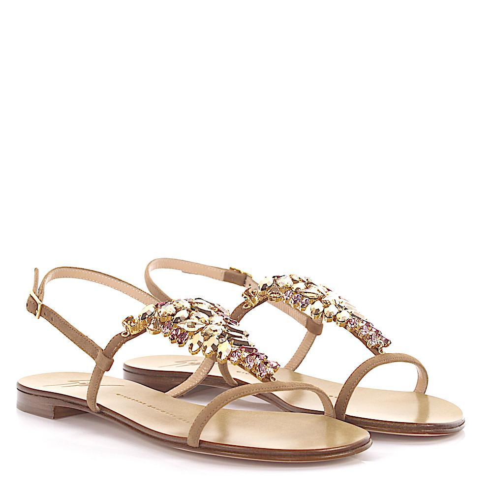 Giuseppe Zanotti Sandals Roll 10 suede crystal embellished a9jQuhZkb