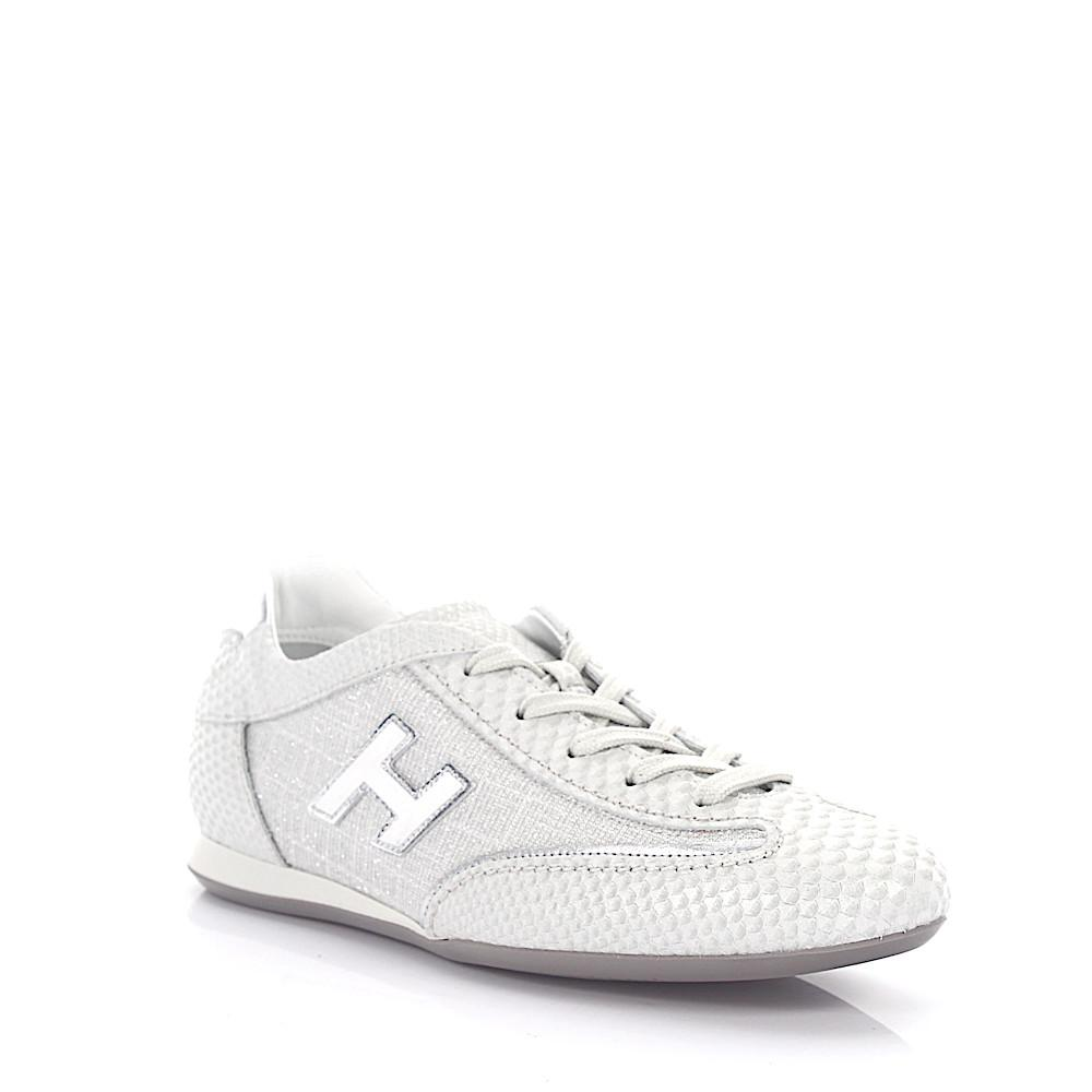 Free Shipping Cheap Hogan Sneaker calfskin smooth leather textile Embossing Glitter Logo silver Cheap 2018 Unisex Very Cheap Price Factory Outlet cEQvvlb