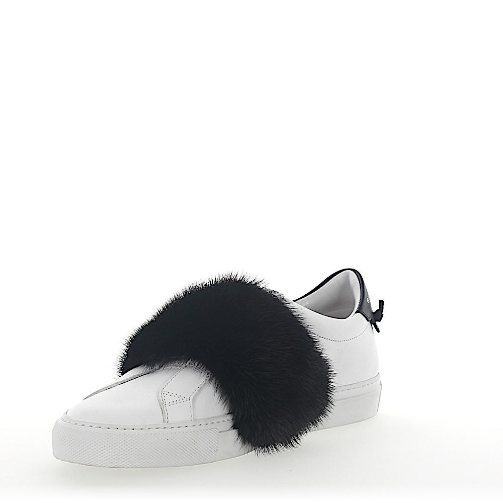 Givenchy Slip-On Sneakers leather mink fur UpENmnu9t