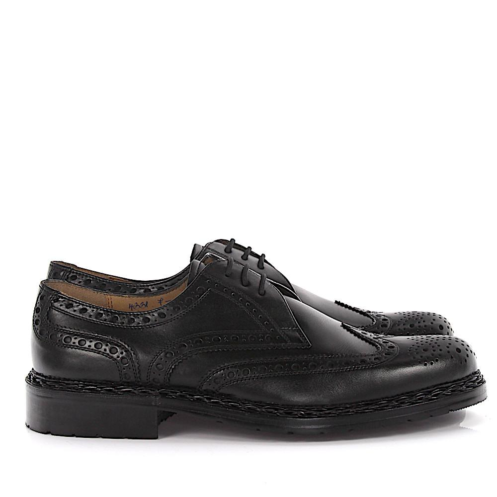 Derby Brogue Kalbsleather black wing cap perforated Heinrich Dinkelacker Clearance Big Discount Countdown Package Sale Online New Styles Cheap Sale Collections 8zcNyYYh