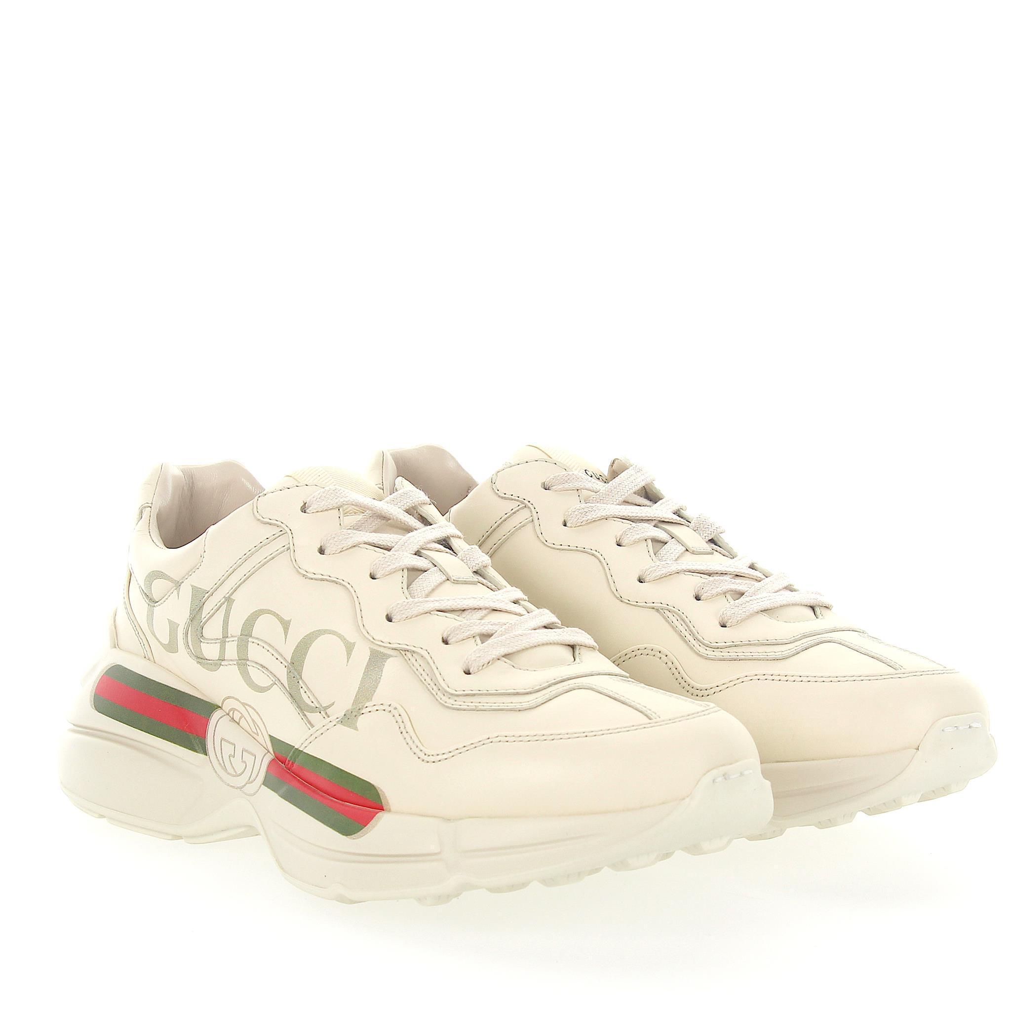 WfV1RNhpb6 Sneaker Rython 500877 leather ivory GG-details jLDd8d9nQ