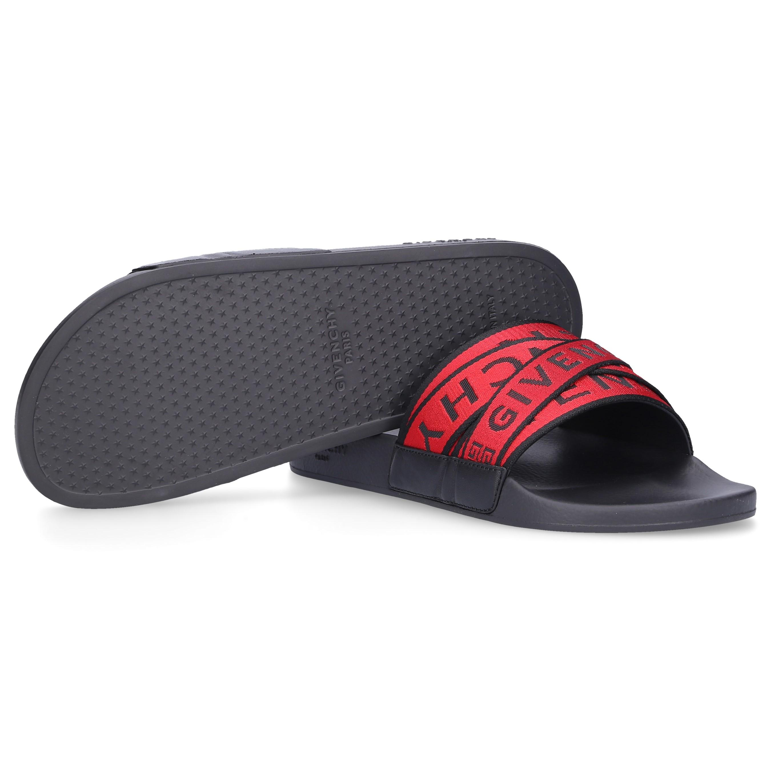 707101d5f69a Givenchy - Slippers Slide Nylon Logo Black Red for Men - Lyst. View  fullscreen