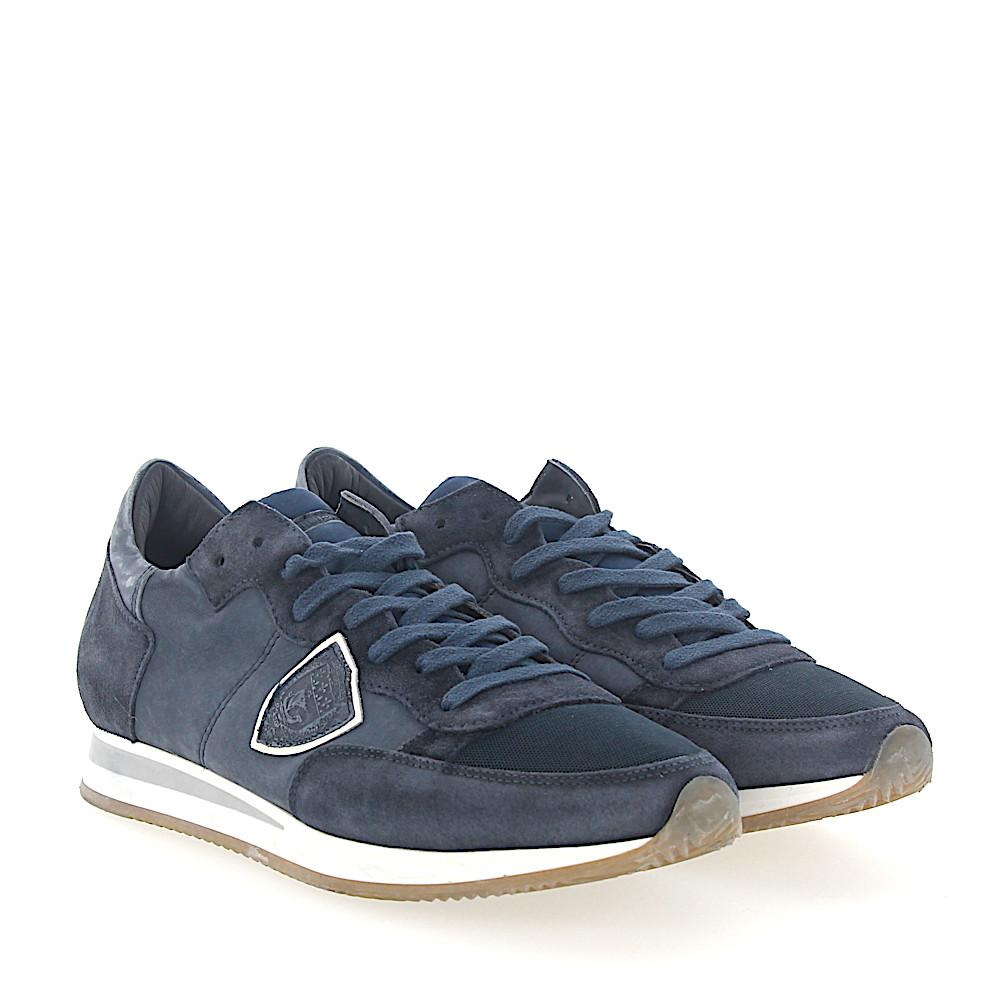Philippe model Sneakers TROPEZ calf-suede Logo dark Outlet Locations Cheap Price LS7RuZP