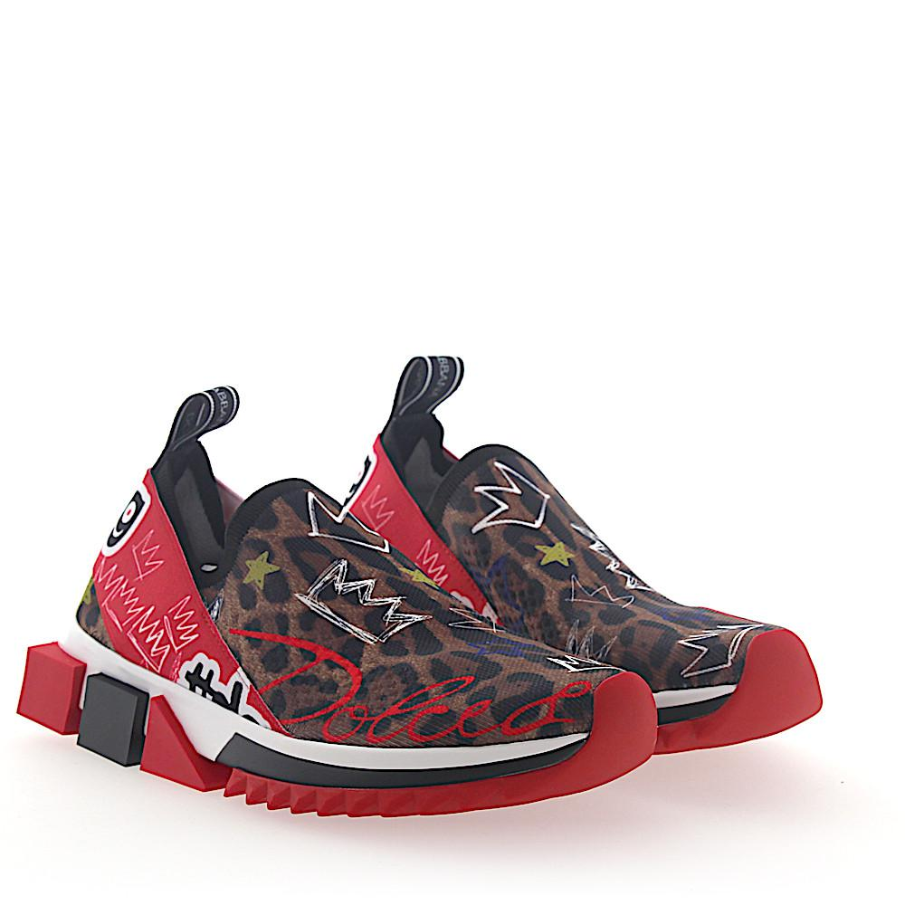 Dolce & Gabbana Sneaker Slip-On SORRENTO Graffiti-Print stretch leopard jvKQ7