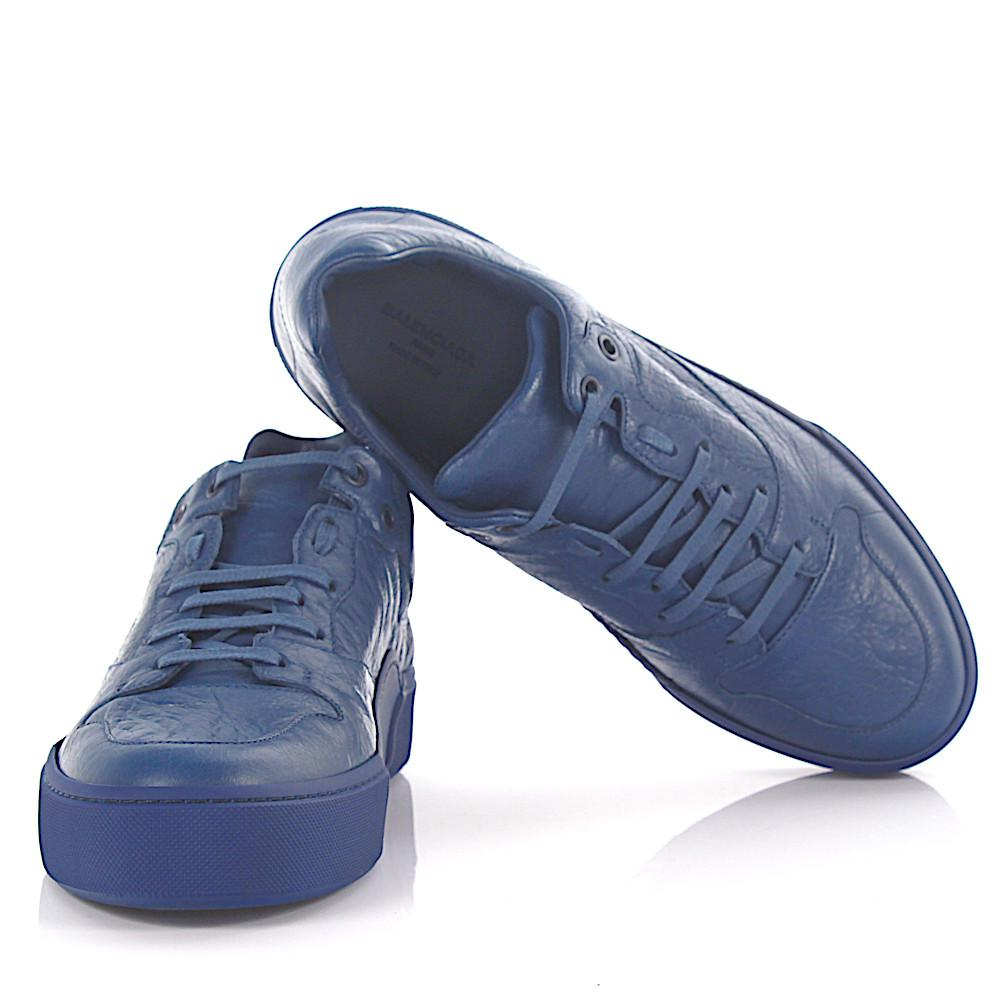 3a20f3c33809a Balenciaga - Sneakers Arena Low Leather Blue Crinkled for Men - Lyst. View  fullscreen