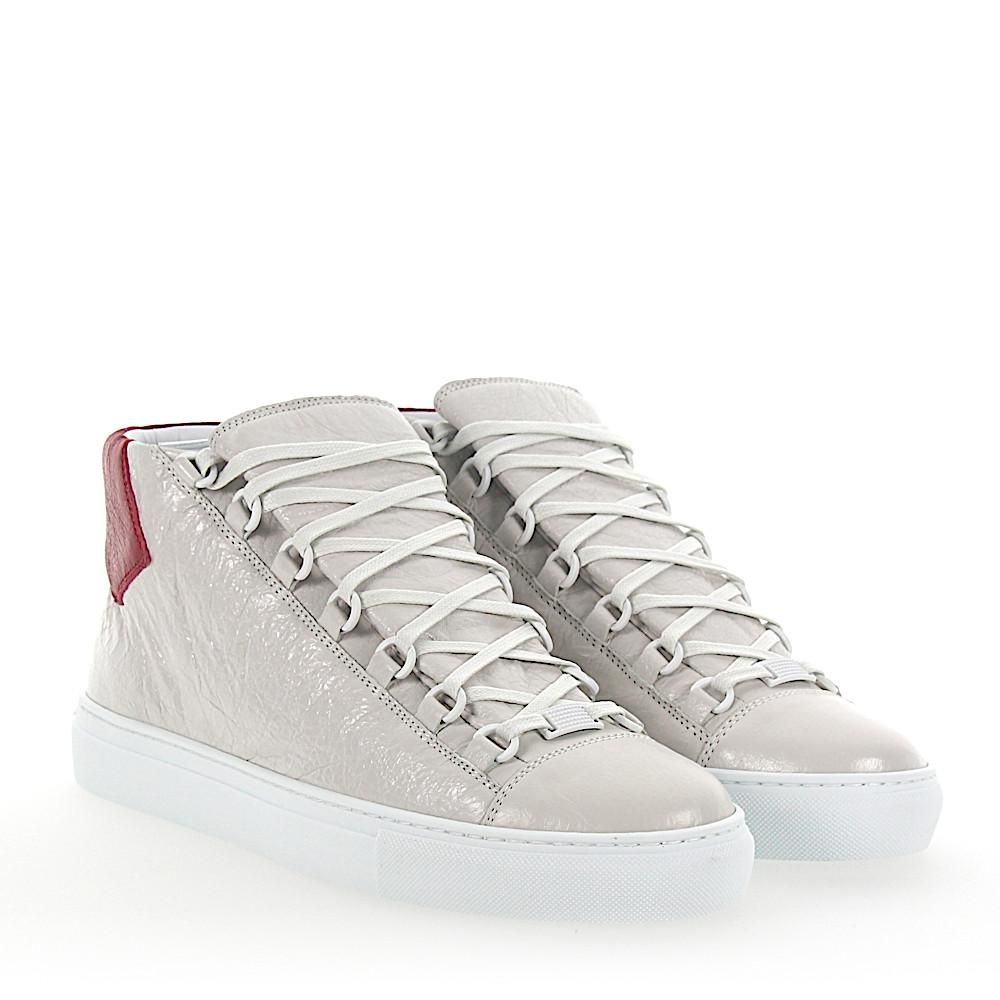 Sneaker high ARENA lambskin Crinkled red white Balenciaga LRP0Rpai41